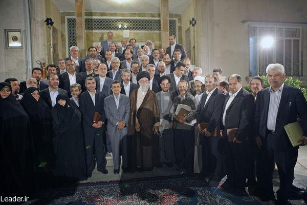 دیدار رئیس جمهور و اعضای هیئت دولت باحضرت آیت الله خامنه ای